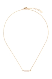 Riah Fashion Delicate Stone Necklace - Front cropped
