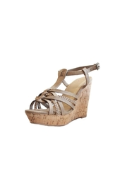 Delicious Shoes Bridget Wedge Sandal - Front full body