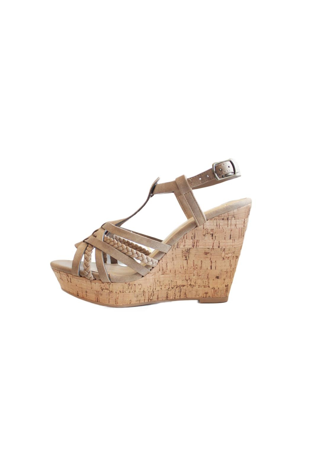 Delicious Shoes Bridget Wedge Sandal - Main Image