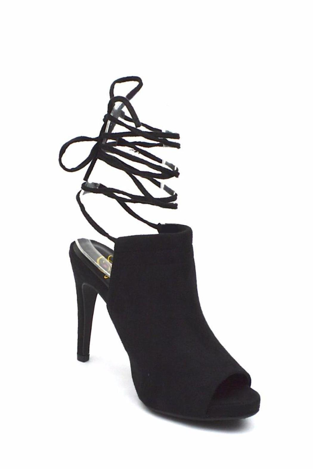 Delicious Shoes Wrap-Around Suede Mule - Side Cropped Image
