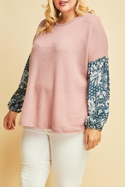 Entro Delightful Waffle-Knit Top - Product Mini Image