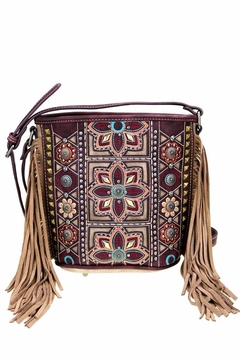 Shoptiques Product: Embroidered Bucket Crossbody