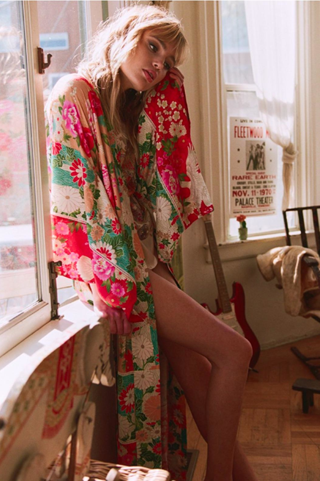 Spell & the Gypsy Collective Delilah Patchwork Kimono - Back Cropped Image