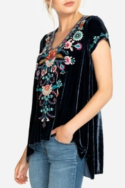 Johnny Was Delphine Velvet-Drape Top - Product Mini Image