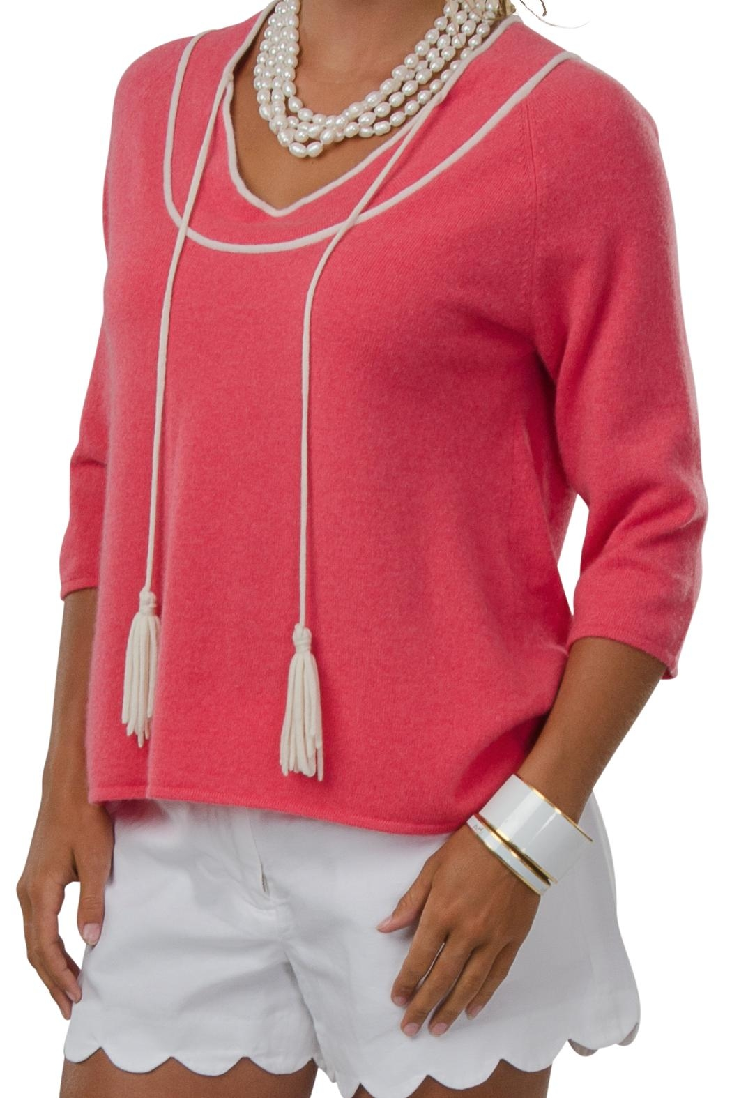 Cortland Park Cashmere Delray Sweater - Front Cropped Image