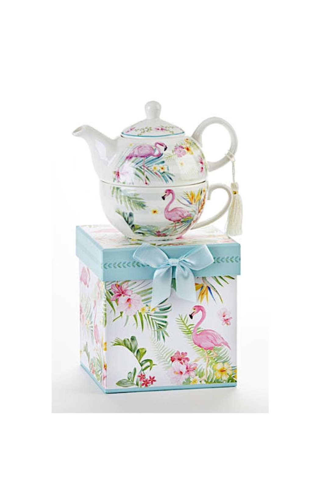 Delton Products Corporation Flamingo Teapot/mug Set - Main Image