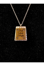 """Delton Products Corporation """"Live Laugh Love"""" Necklace - Front full body"""