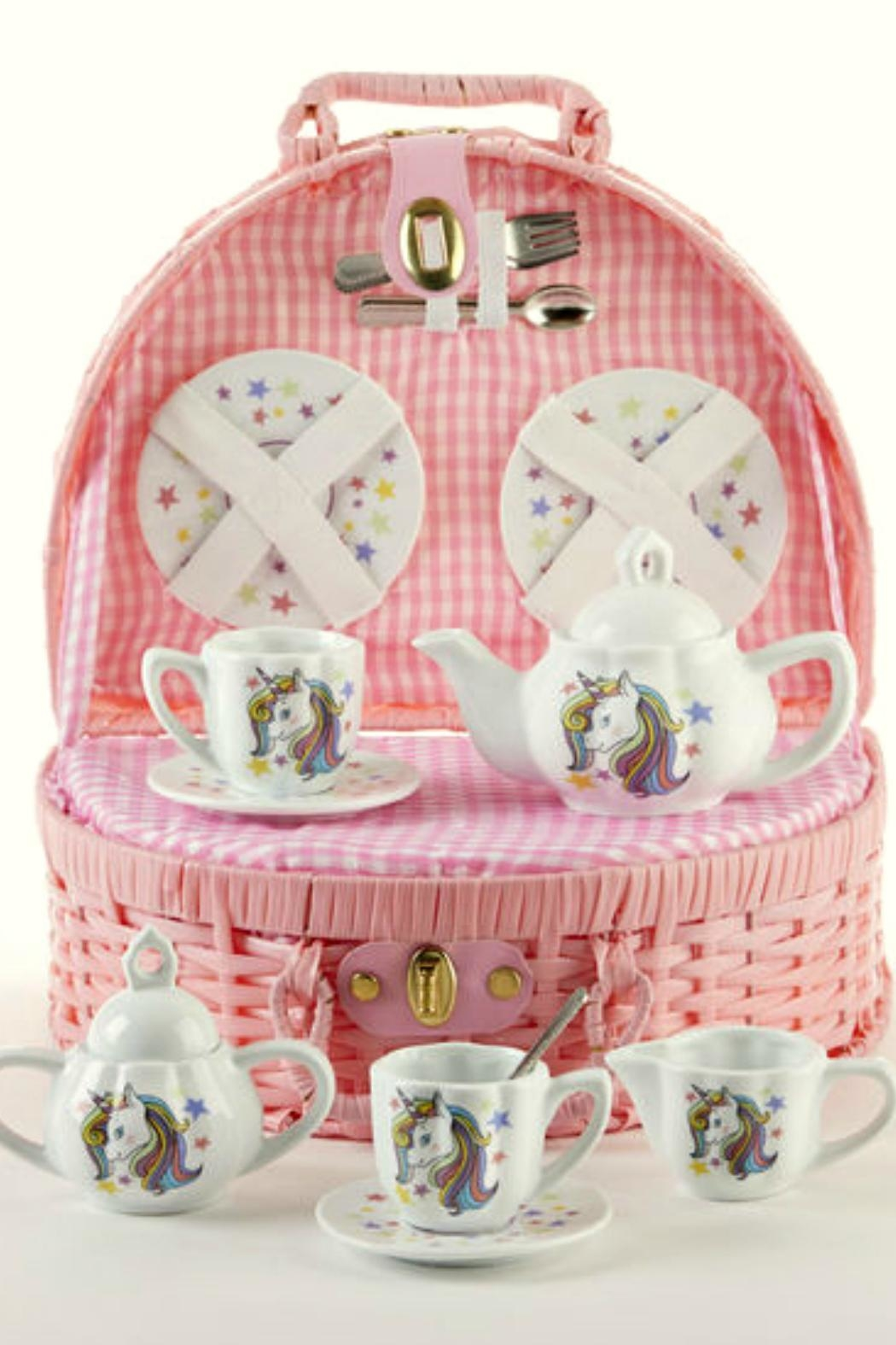 Delton Products Corporation Unicorn-Themed Children's Tea-Set - Front Cropped Image