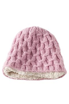 DeLux Pink Wool Beanie - Alternate List Image