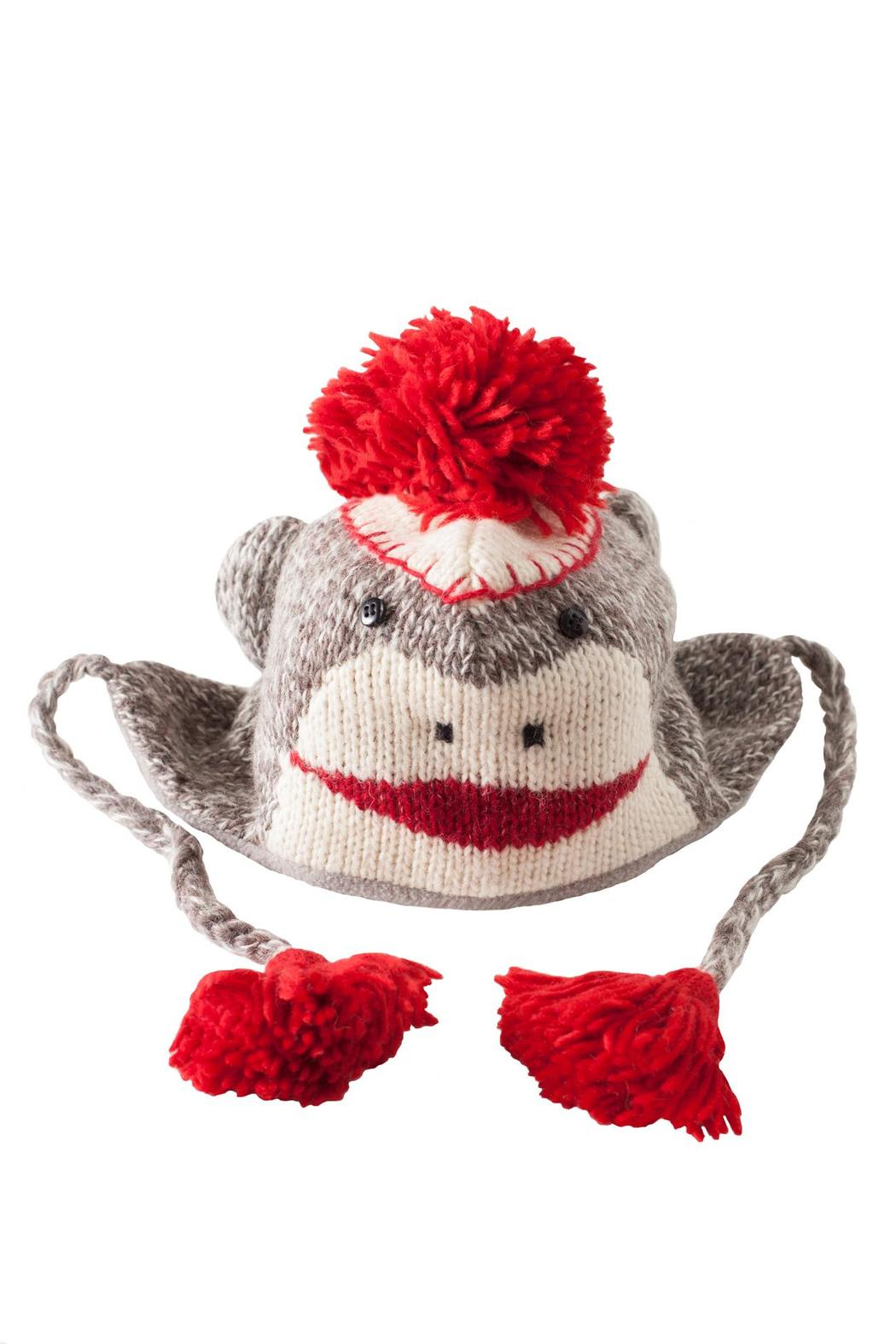 DeLux Sock Monkey Hat - Front Cropped Image