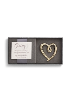 Shoptiques Product: Gold Heart Giving-Pin