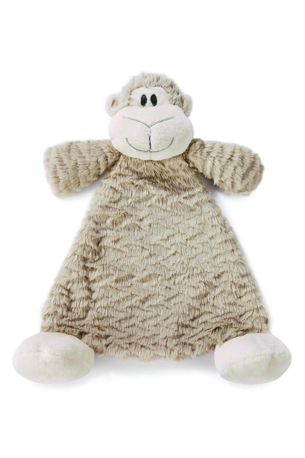 DEMDACO Monkey Blankie Rattle - Front Cropped Image