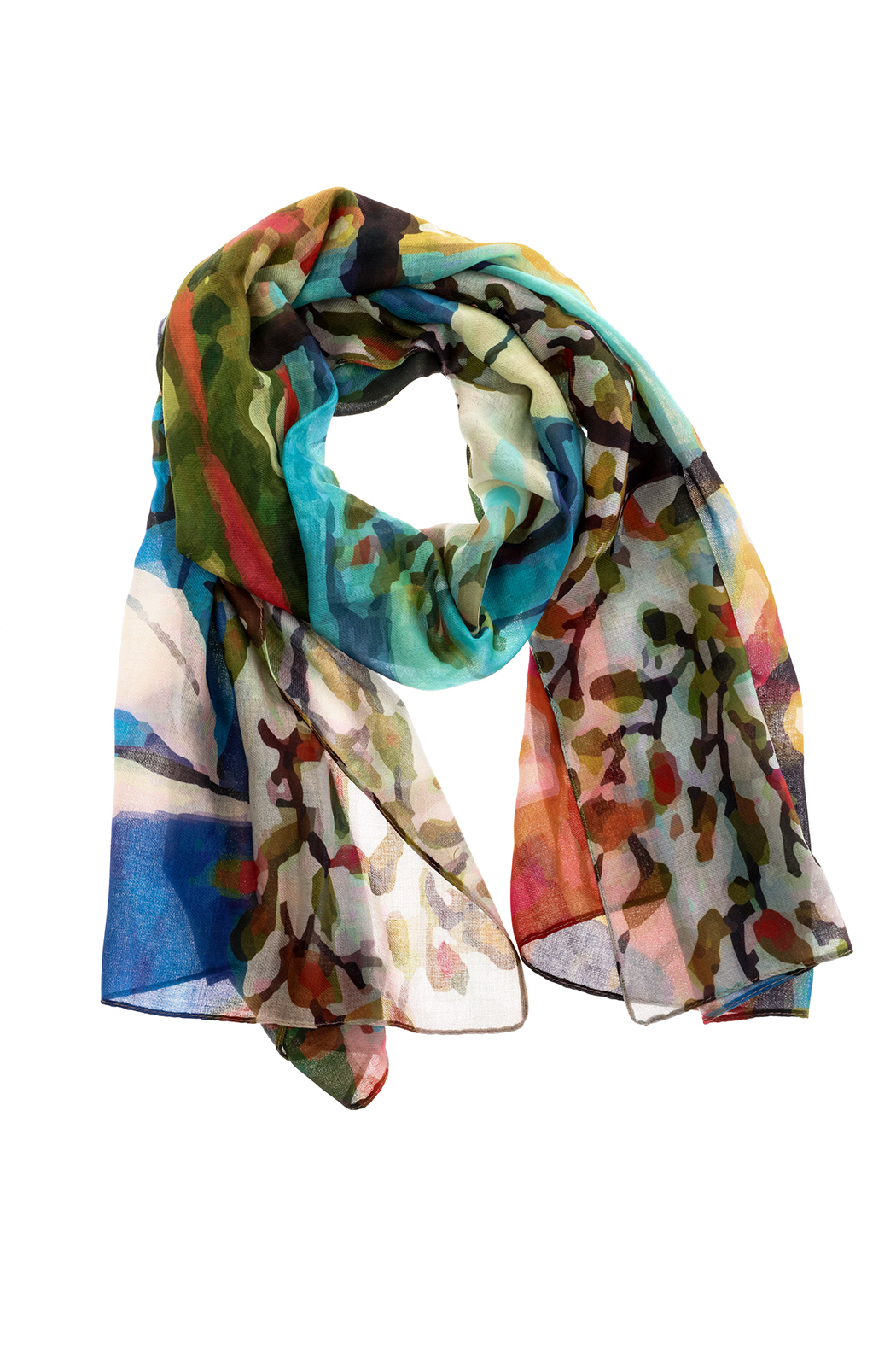 DEMDACO Colorful Rectangle Scarf - Main Image