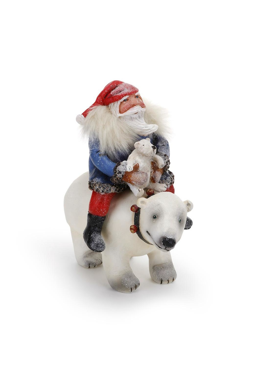 DEMDACO Santa On Bear - Front Cropped Image
