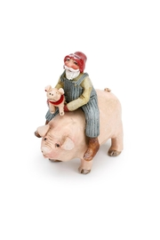 DEMDACO Santa On Pig - Front cropped