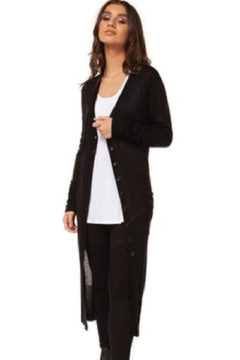 Democracy Button-Up Black Duster - Product List Image
