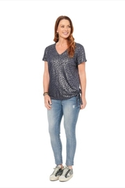 Democracy Metallic Animal-Print V-Neck - Product Mini Image