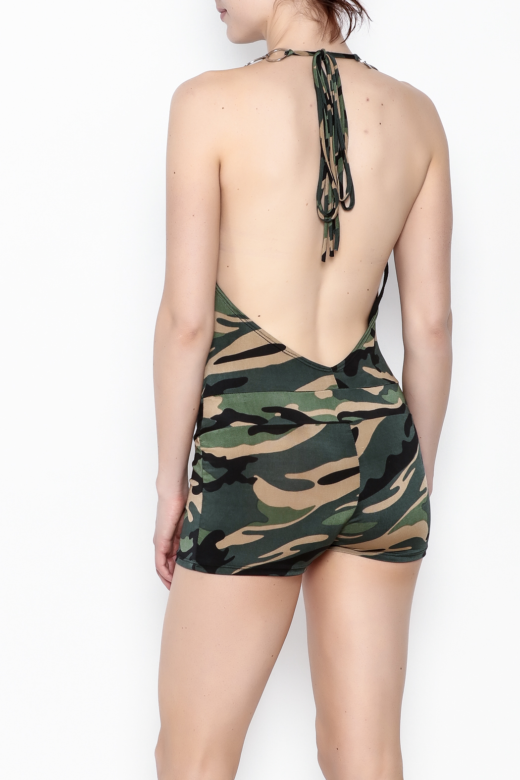 demore Camofluage Romper - Back Cropped Image