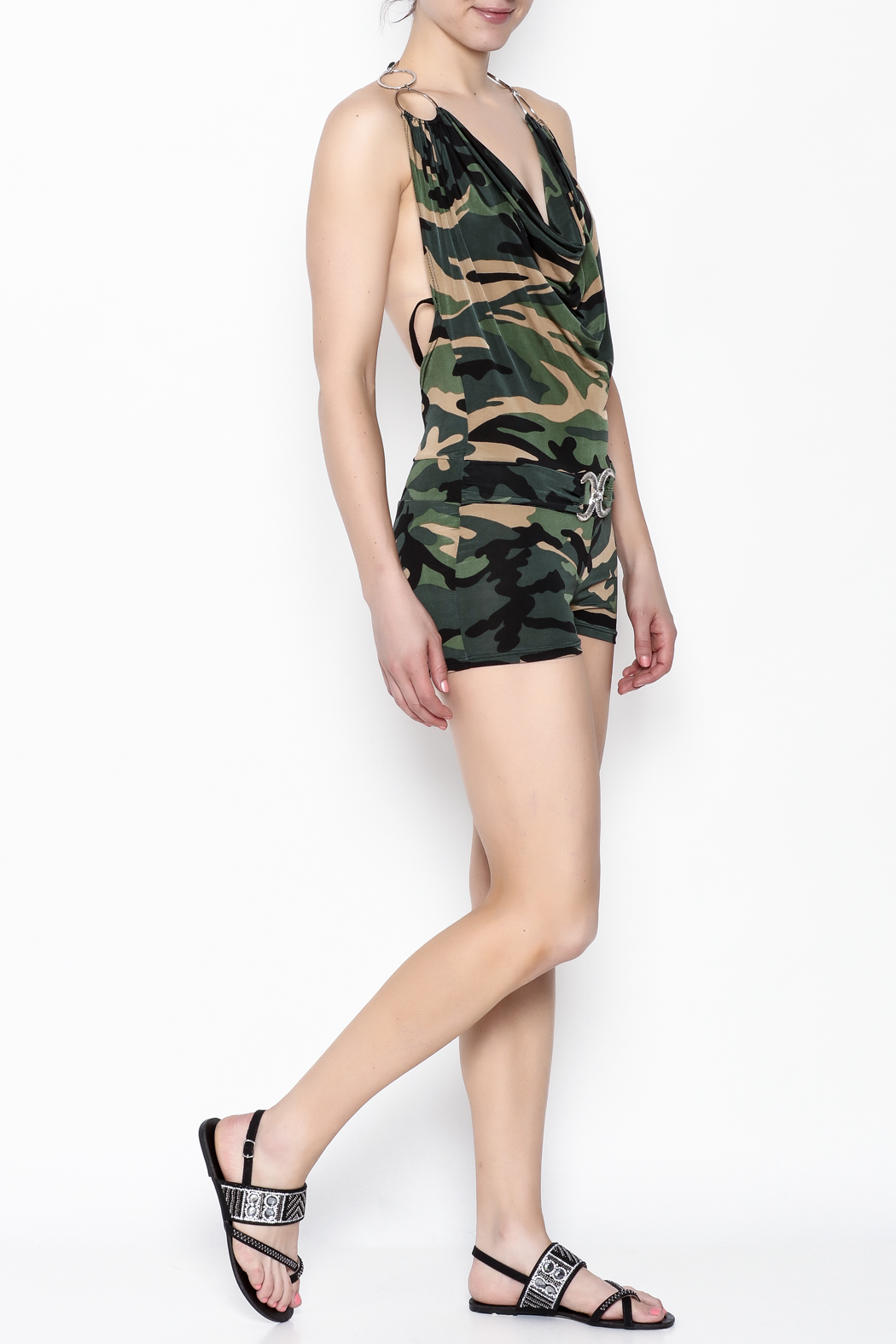 demore Camofluage Romper - Side Cropped Image
