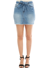 Klique B Denim Belted Skirt - Product Mini Image