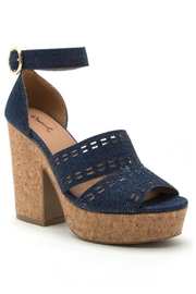 Qupid Denim Block Heel - Product Mini Image