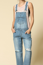 By Together Denim Boyfriend Overalls - Product Mini Image