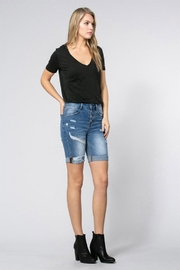 Klique B Denim Burmuda Shorts - Front cropped