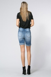 Klique B Denim Burmuda Shorts - Side cropped