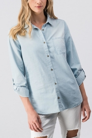 Love Tree Denim Button Down - Product Mini Image