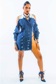 Minx Denim Cannabis Jacket - Front cropped