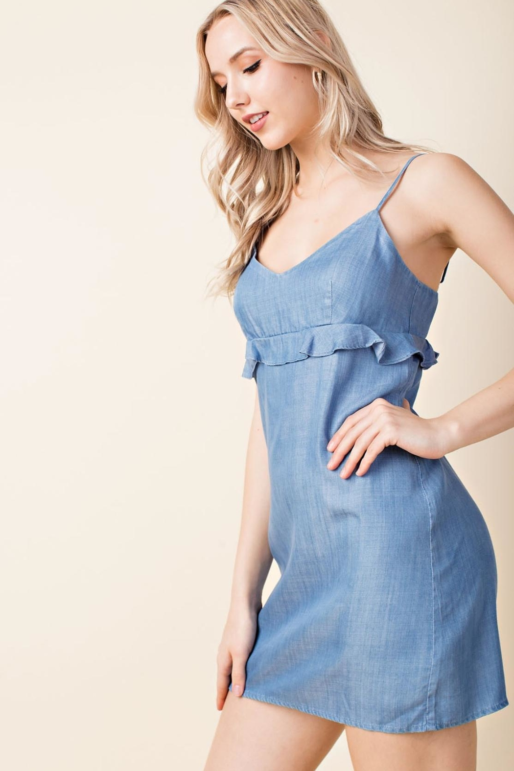 Wild Honey Denim Casual Dress - Side Cropped Image