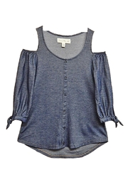 French Laundry Denim Cold-Shoulder Top - Product Mini Image