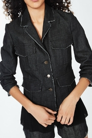 Nicole Miller Denim Combo Jacket - Front full body