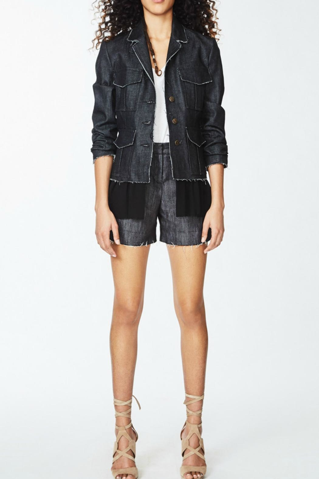 Nicole Miller Denim Combo Jacket - Main Image