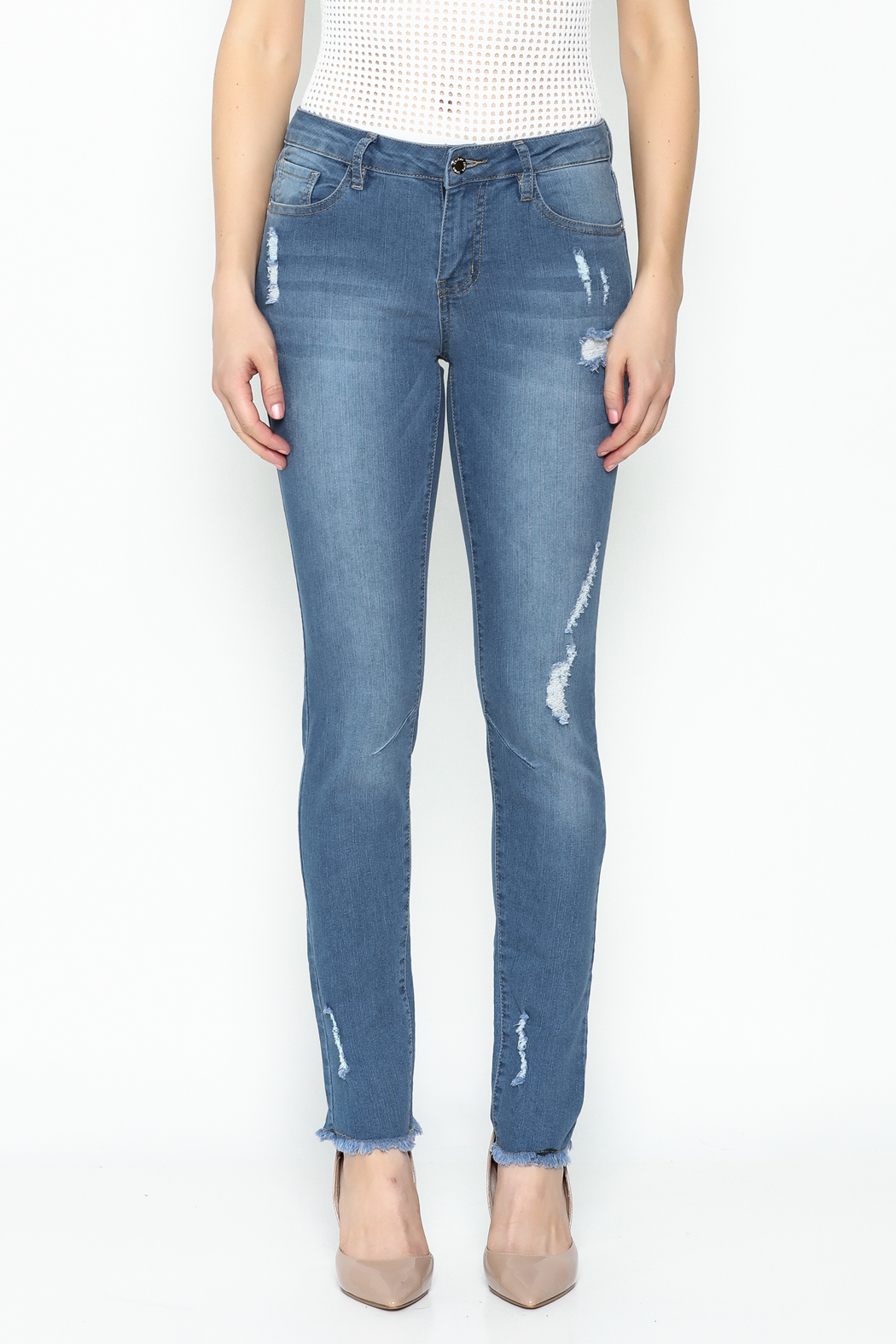 Denim Couture Light Jeans - Front Full Image