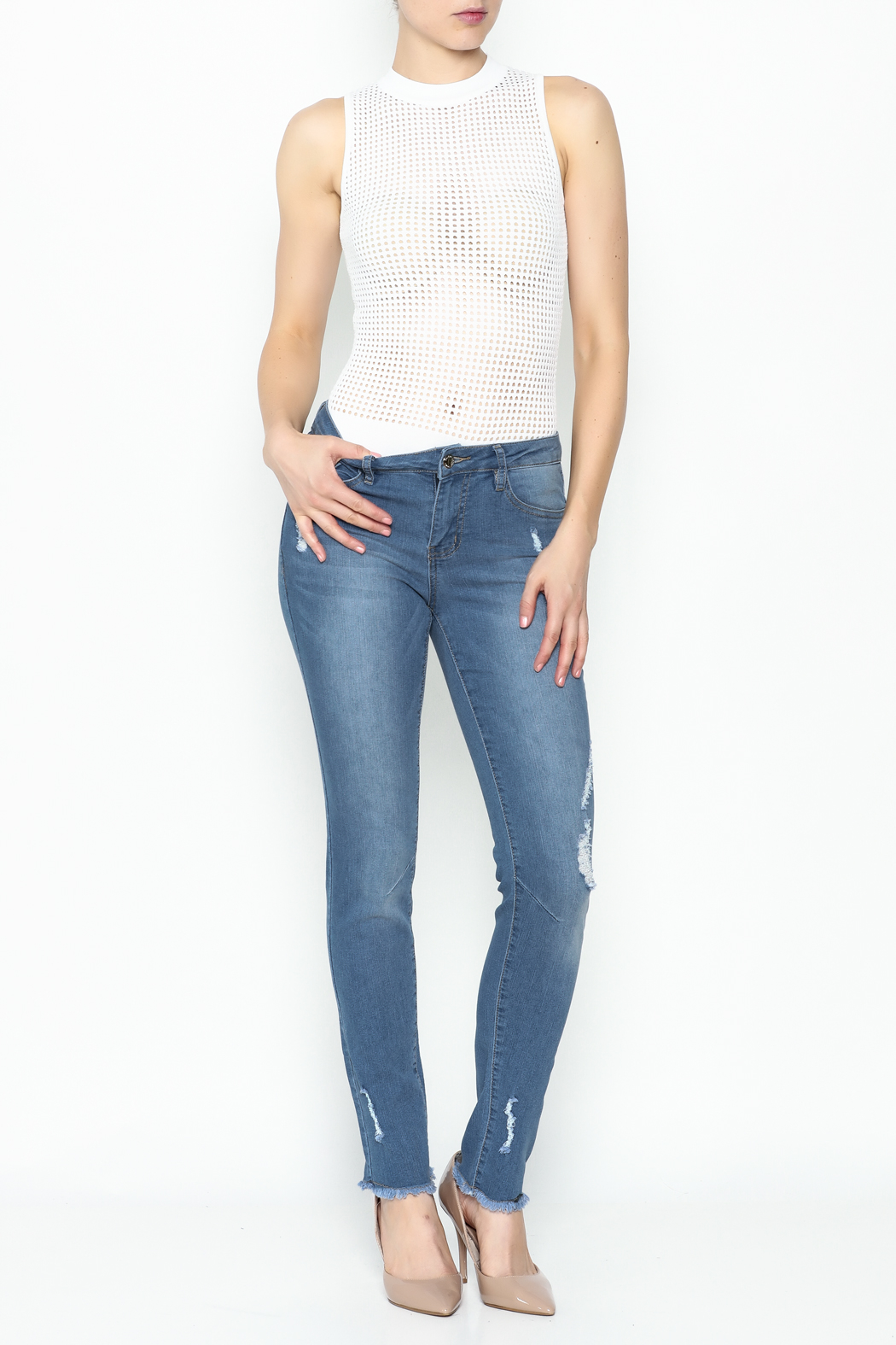 Denim Couture Light Jeans - Side Cropped Image