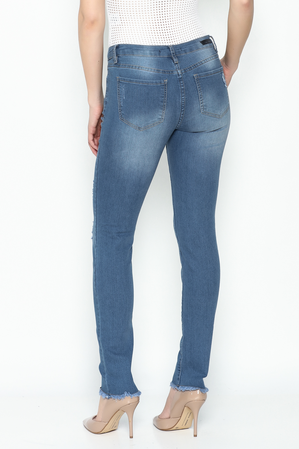 Denim Couture Light Jeans - Back Cropped Image