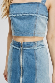 Emory Park Denim Crop Top - Front full body