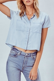 Lovestitch Denim Cropped Shirt - Front cropped