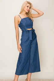 HYFVE Denim Cutout Jumpsuit - Product Mini Image