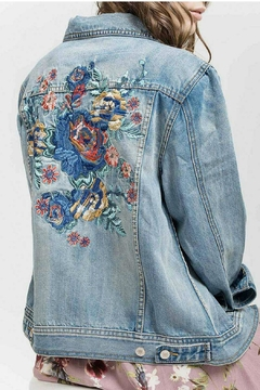 Blu Pepper Denim Embroidered Jacket - Alternate List Image
