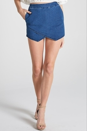 blue blush Denim Envelope Skort - Product Mini Image