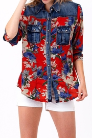 Richmar Fashions Denim Floral Top - Product Mini Image