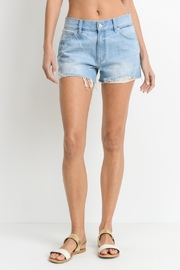 Just USA Denim Frayed Shorts - Product Mini Image