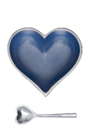 Inspired Generations Denim-Heart-Dish With Spoon - Product Mini Image