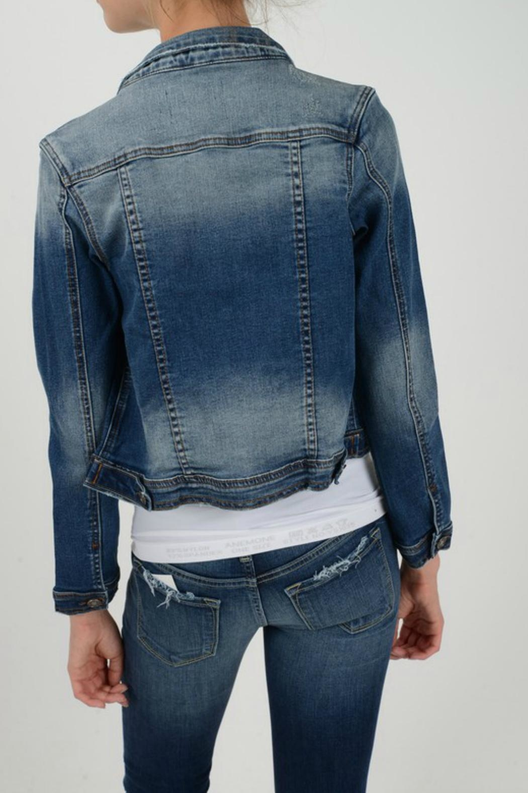 KanCan Denim Jacket - Front Full Image