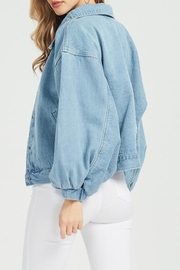 Hello Miss Denim Jacket - Back cropped