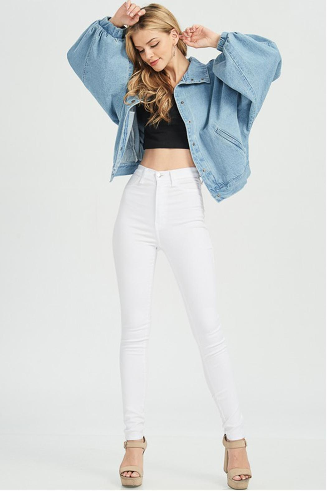 Hello Miss Denim Jacket - Front Full Image