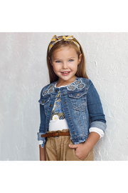 Mayoral Denim Jacket With Applique - Front full body