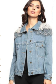 Adore Denim Jacket with Embellishments - Front cropped